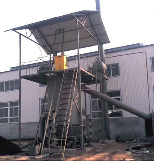 单段式热煤气发生炉